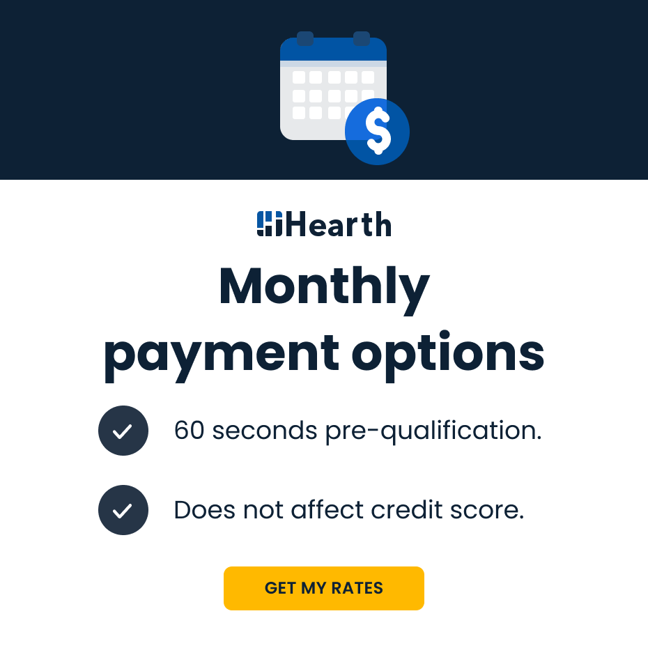 Monthly payment options. Check rates. 60 second pre-qualification. Does not affect credit score.